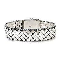 Samuel B. Men's Imperial Woven Bracelet in Sterling Silver