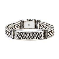 Samuel B. Men's Imperial Chain Link Bracelet in Sterling Silver