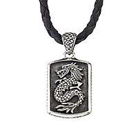 Samuel B. Men's Imperial Dragon Pendant in Sterling Silver