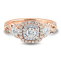 1 ct. tw. Diamond Three-Stone Ring in 14K Rose Gold