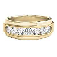 Men's 1 ct. tw. Diamond Band in 10K Yellow Gold, 6MM