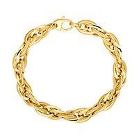 Polished Link Bracelet in 14K Yellow Gold
