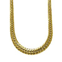 Endura Gold® Herringbone Chain Necklace in 14K Yellow Gold, 18