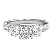 2 ct. tw. Diamond Three-Stone Ring in 14K White Gold