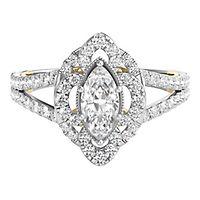TRULY™ Zac Posen 7/8 ct. tw. Diamond Engagement Ring in 14K White Gold