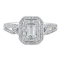 TRULY™ Zac Posen 3/4 ct. tw. Diamond Engagement Ring in 14K White Gold