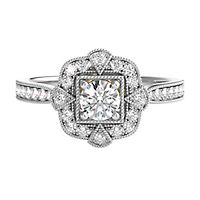 TRULY™ Zac Posen 1/2 ct. tw. Diamond Halo Engagement Ring in 14K White Gold