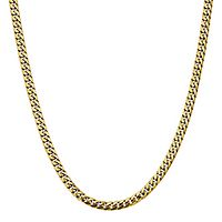 Men's Domed Curb Chain in 14K Yellow Gold, 24