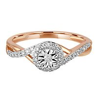 1/5 ct. tw. Diamond Promise Ring in 10K Rose Gold