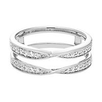 1/3 ct. tw. Diamond Ring Enhancer in 14K White Gold