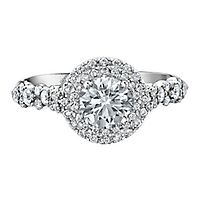 Maple Leaf Diamonds™ 1 5/8 ct. tw. Diamond Halo Engagement Ring in 18K Rose & White Gold