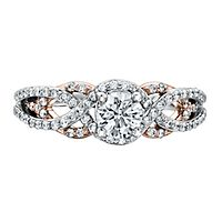Maple Leaf Diamonds™ 7/8 ct. tw. Diamond Engagement Ring in 18K Rose & White Gold