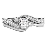 3/8 ct. tw. Diamond Engagement Ring Set in 10K White Gold