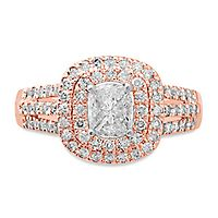 1 ct. tw. Multi-Diamond Engagement Ring in 14K Rose & White Gold