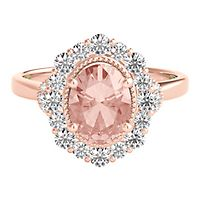 TRULY™ Zac Posen Morganite & 5/8 ct. tw. Diamond Engagement Ring in 14K Rose Gold