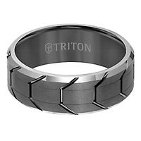 Triton Men's Band in Tungsten, 8MM