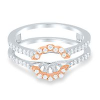 3/8 ct. tw. Diamond Ring Enhancer in 10K White & Rose Gold