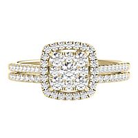 1/2 ct. tw. Multi-Diamond Engagement Ring Set in 10K Yellow Gold