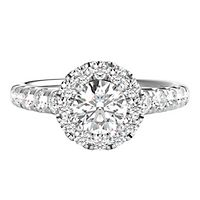 1 3/8 ct. tw. Diamond Engagement Ring in 14K White Gold