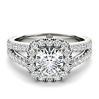 My Diamond Story® 2 ct. tw. Diamond Engagement Ring in 14K White Gold