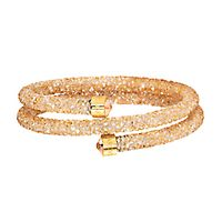 Swarovski® Gold Crystaldust Wrap Bangle Bracelet