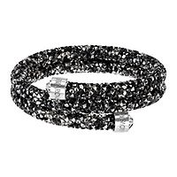 Swarovski® Black Crystaldust Wrap Bangle Bracelet