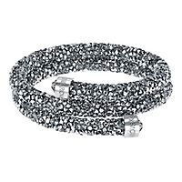Swarovski® Gray Crystaldust Wrap Bangle Bracelet