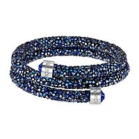 Swarovski® Blue Crystaldust Wrap Bangle Bracelet