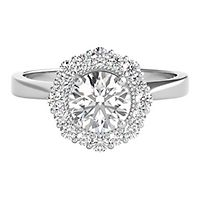 TRULY™ Zac Posen 1 1/4 ct. tw. Diamond Halo Engagement Ring in 14K White Gold
