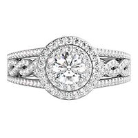Helzberg Limited Edition® 1 ct. tw. Diamond Engagement Ring in 14K White Gold