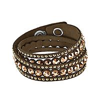 Swarovski® Brown Slake Dot Bracelet