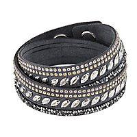Swarovski® Gray Slake Pulse Bracelet