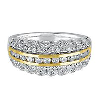 TRULY™ Zac Posen 1 ct. tw. Diamond Anniversary Band in 14K White & Yellow Gold