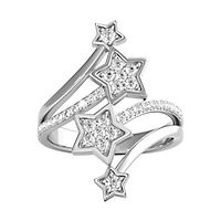Enchanted Disney 1/10 ct. tw. Diamond Tinker Bell Star Ring in Sterling Silver