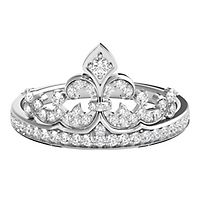 Enchanted Disney 1/4 ct. tw. Diamond Tiara Ring in Sterling Silver