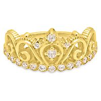 Roberto Martinez White Topaz Tiara Ring in 14K Yellow Gold