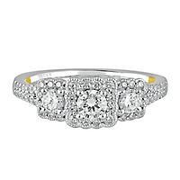 TRULY™ Zac Posen 1 ct. tw. Diamond Three-Stone Ring in 14K White Gold