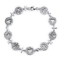 Faith, Love & Hope Bracelet in Sterling Silver