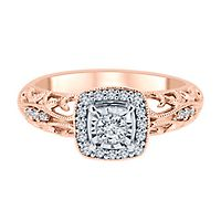 1/5 ct. tw. Diamond Engagement Ring in 10K Rose Gold