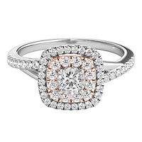 1/3 ct. tw. Diamond Halo Engagement Ring in 10K White & Rose Gold