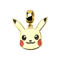 © Pokémon Pikachu Dangle Charm in 10K Yellow Gold over Sterling Silver