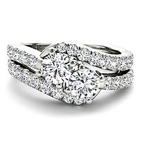 Exclusively Us® 2 ct. tw. Diamond Two-Stone Ring in 14K White Gold