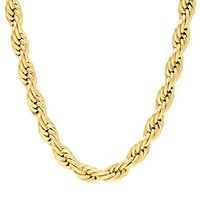 Men's Rope Chain in Stainless Steel, 26