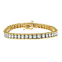 3 ct. tw. Diamond Tennis Bracelet in 10K Yellow Gold