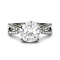 Forever One® 2 7/8 ct. tw. Moissanite Ring in 14K White Gold