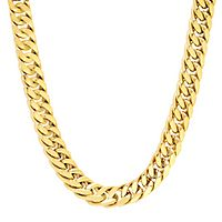 Men's Curb Link Chain in Stainless Steel, 24
