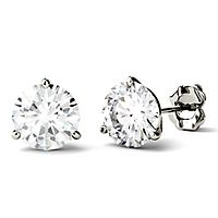 Forever One® 3 ct. tw. Moissanite Martini Stud Earrings in 14K White Gold