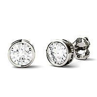 Forever One® 1 ct. tw. Moissanite Stud Earrings in 14K White Gold