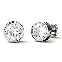 Forever One® 2 ct. tw. Moissanite Stud Earrings in 14K White Gold