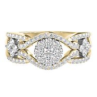 Mirabela® 1/2 ct. tw. Diamond Ring in 10K Yellow Gold